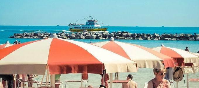 la spiaggia di Bellaria Igea Marina